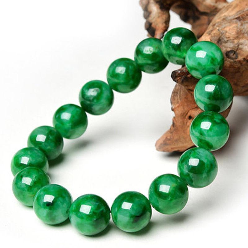 12mm 100/% Natural A JADE Red Jadeite Bead Gemstone Beads Bangle Bracelet