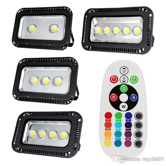 Açık LED Sel ışık 200 W 300 W 400 W 500 W 600 W RGB / Sıcak / Soğuk Katiyen projektör Projektörler Su Geçirmez Dış lamba aydınlatma 85-265 v