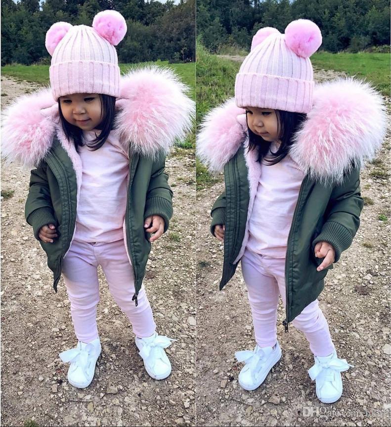 Meninos do bebê Jaqueta 2018 Outono Inverno Jaqueta Casaco Crianças Com Capuz De Pelúcia Gola Crianças Outerwear Casaco Criança Menina Menino roupas