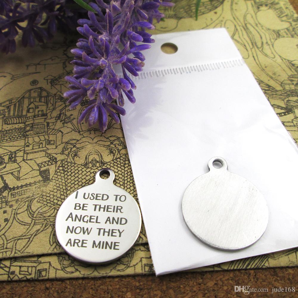 40шт - «Раньше я их ангел, и теперь они мои» прелесть нержавеющей стали больше стиля для выбора DIY очаровывает подвески для ожерелья