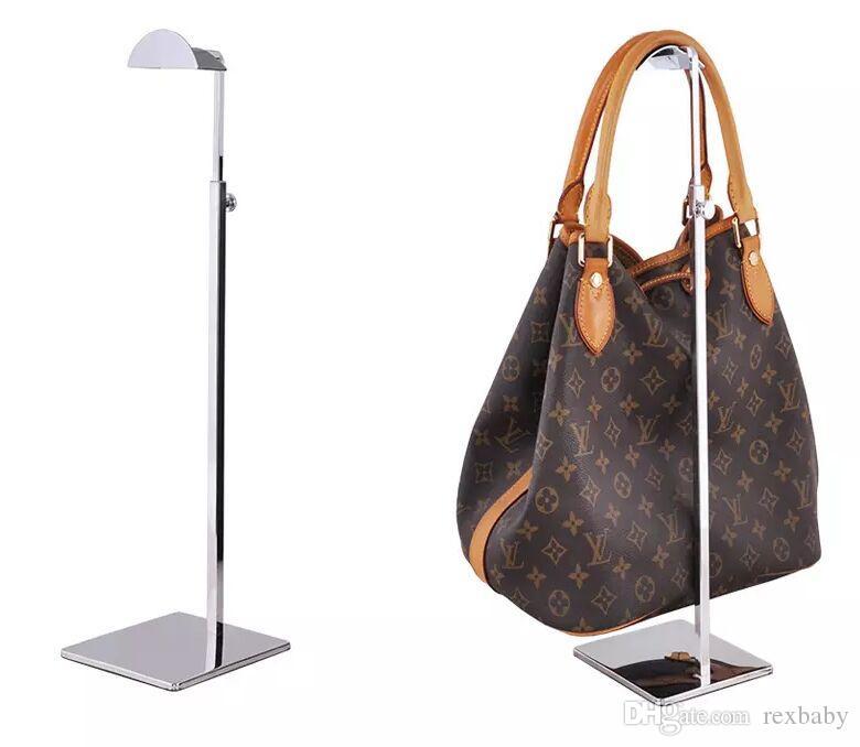 تعديل معدن حقيبة يد عرض الرف إمرأة حقيبة حقيبة عرض موقف حامل لمة قبعة والأوشحة هوك حامل