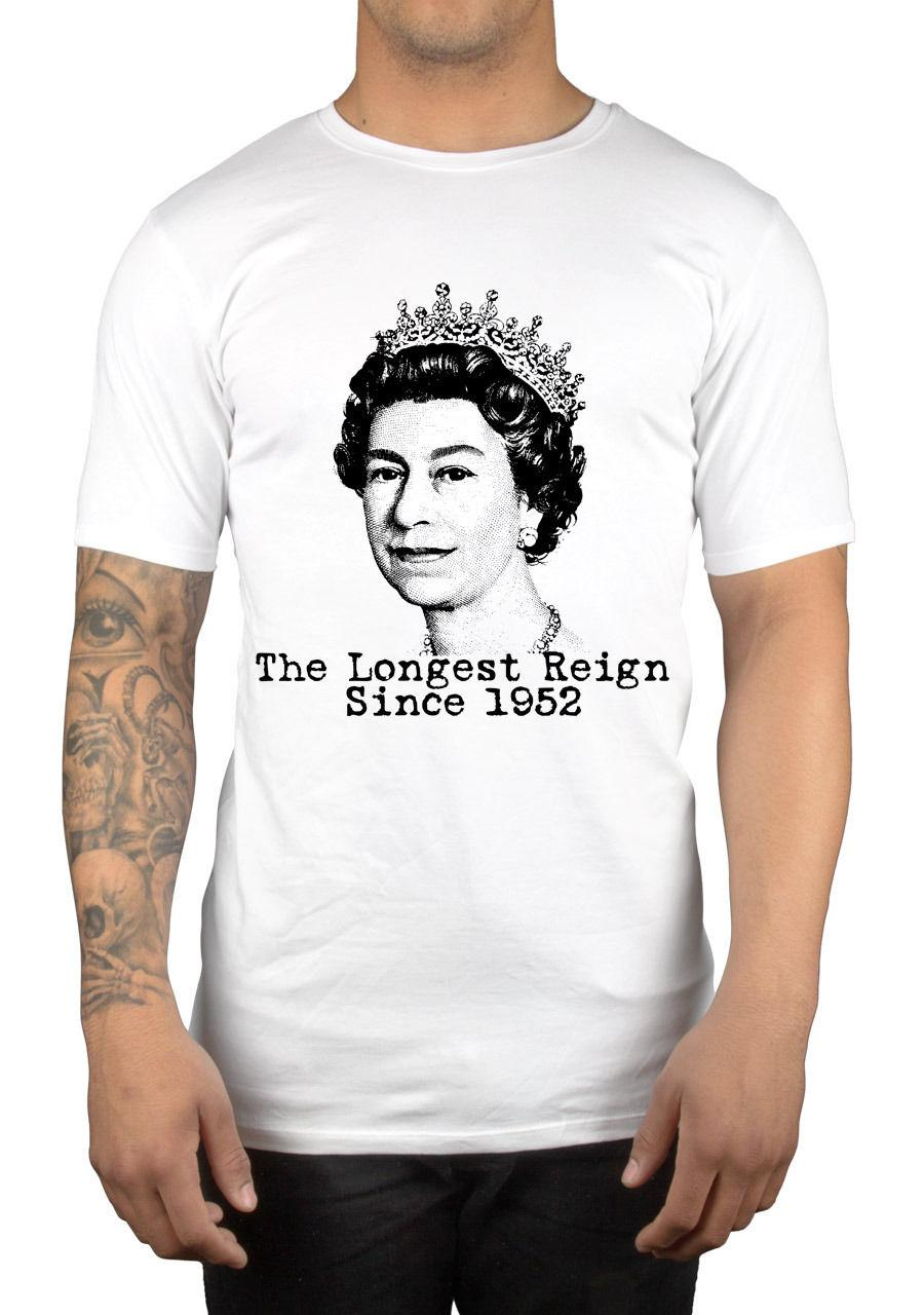 Queen Elizabeth Ii Longest Reign Since 1952 T-shirt God Save The Queen Gift Idea 2018 New Short Sleeve Casual T-shirt Tee
