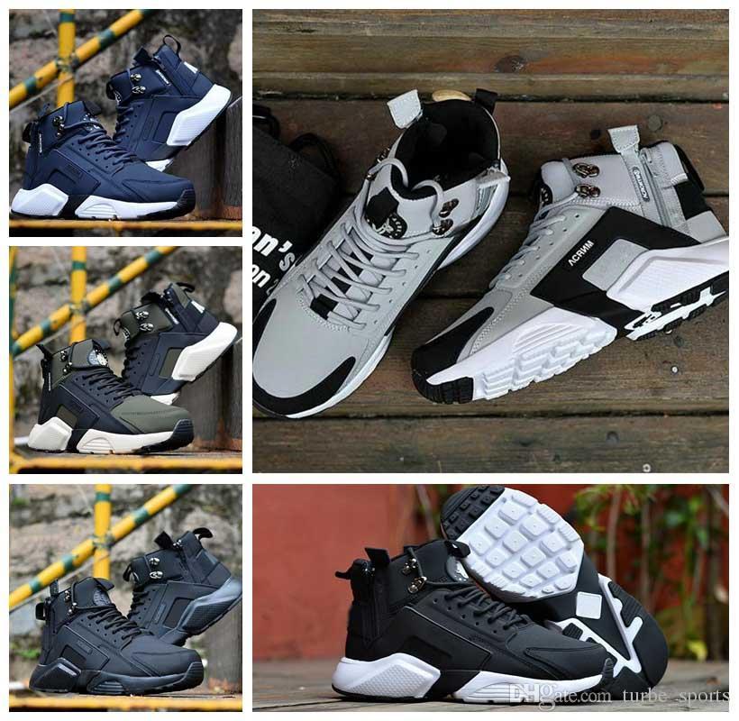 بيع رخيصة Huarache الهواء 6 X المختصر مدينة MID جلدية السامي الأعلى Huaraches الاحذية الرجال النساء huraches احذية Hurache Zapatos حجم 7-11