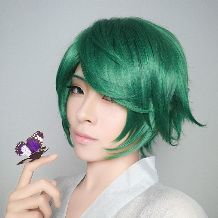 Game King of Glory Green Short Bob Air Bang Cosplay Party Anime Heat Resistant Synthetic Hair Wig