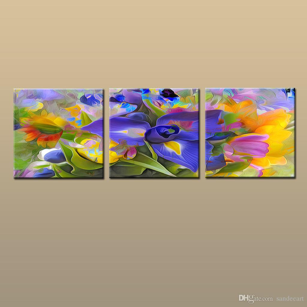 Framed/Unframed Large Modern Wall Art Canvas Giclee Prints Painting Abstract Picture Decor 3 piece Sets Home Bedroom Living Room Decor abc28