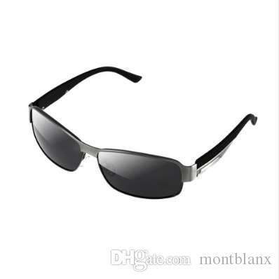 Gafas de sol polarizadas clásicas Hombres Gafas Conducción Recubrimiento Marco Negro Pesca Conducción Gafas Gafas de Sol Masculinas Oculos Calidad