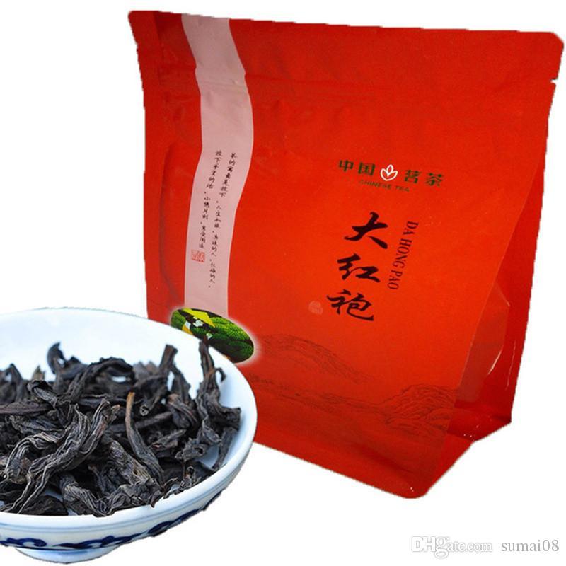 Preferencia 250g Negro chino orgánico del té rojo grande del traje de Oolong Té Rojo Cuidado de la Salud Nueva cocido té verde de alimentos sellado de cinta de embalaje