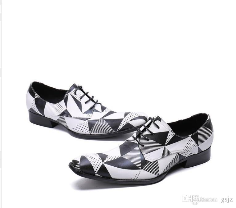 2018 Новый Стиль Мода Стиль Черный Белый Оксфорд Обувь Для Человека Высота Увеличение Мужские Тапочки Для Курения Платье Свадебные Туфли S551