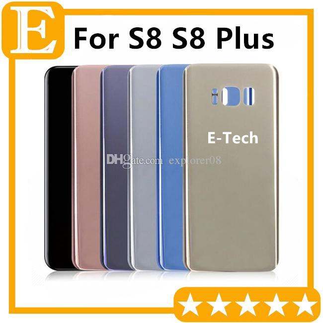 Back Glass Cover for Samsung Galaxy S8 G950 VS S8 Plus + G955 Rear Battery Cover Door Housing Replacement 60PCS/Lot