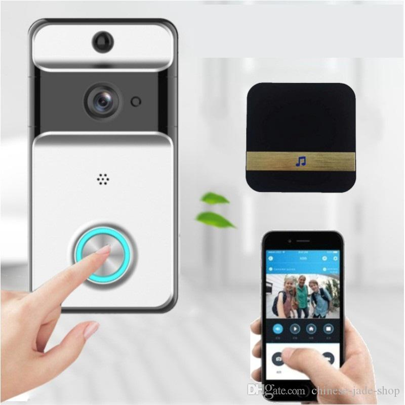 IP53 Waterproof Wireless Door Bell WI-FI Video Doorbell Security Camera IR Night Vision Battery including Support TF 1pc/lot