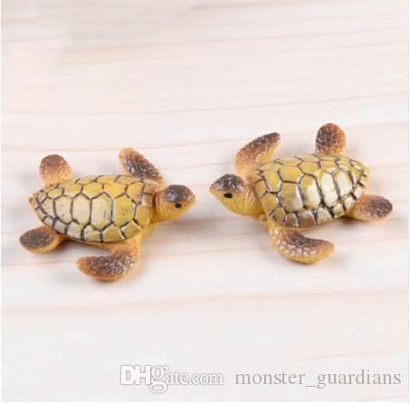 1 PC Miniaturas de Miniaturas de Fadas Do Jardim Da Tartaruga De Mar Modelo de Decoração DIY Bonecas Bonsai Figurines Presentes Acessórios de Decoração Para Casa