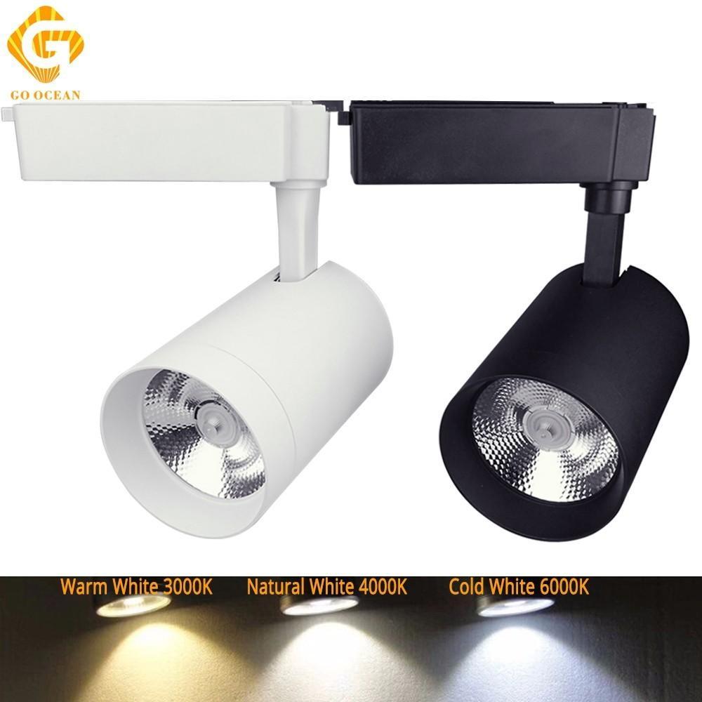 Pista de showroom de iluminación natural Ajustable Luz LED luz de la Lámpara de pista 30W 4000K