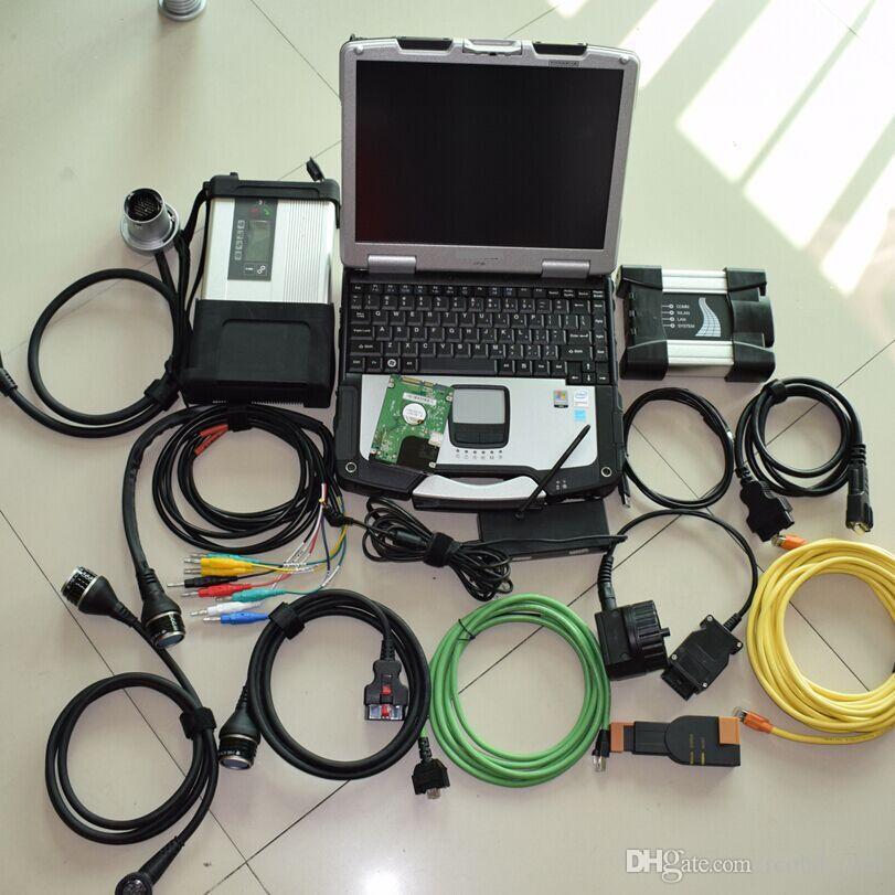 2w1 Diagnozuj narzędzie MB Star C5 SD Connect for BMW ICOM Dalej za pomocą trybu Expert 1TB CF-19 wytrzymały laptop 4g