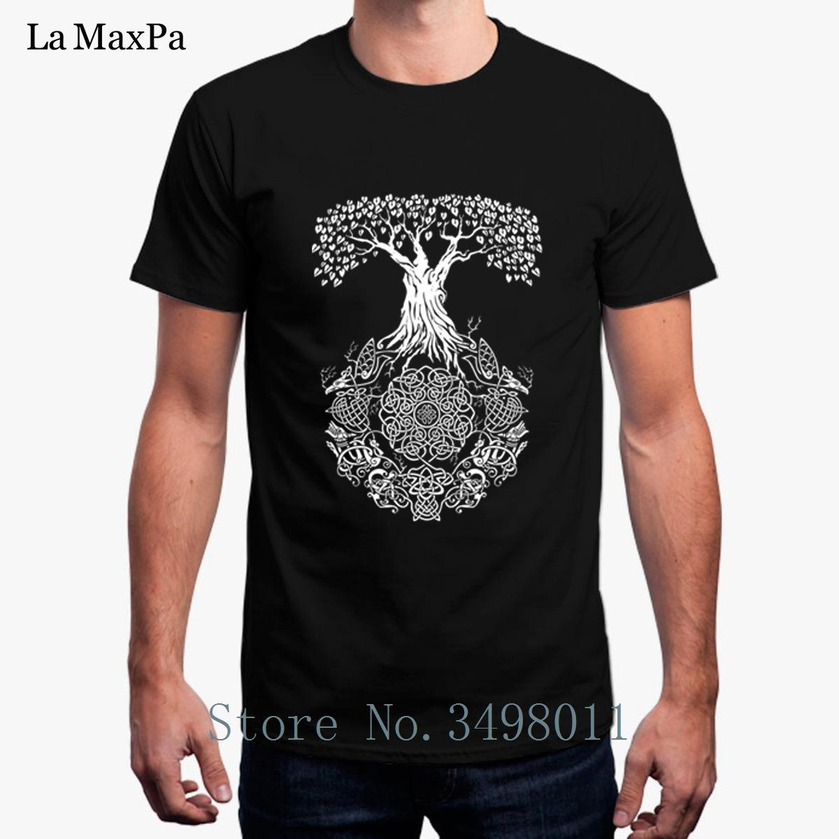 Nouveau T-Shirt Yggdrasil Tree Of Life pour Homme Été T-Shirt À Manches Longues Vêtements S-3xl T-shirt À Manches Courtes Hip Hop