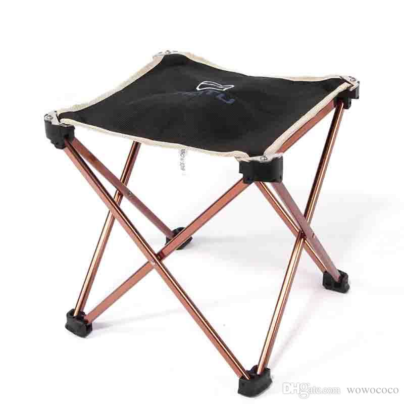 Portable Fishing Chair Campstool Mini Folding Stool Fishing Tackle Aluminum Alloy AT6727 X029