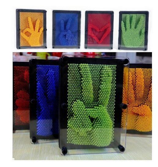 Juguetes de plástico 3D Modelo DIY Antiestrés Clone Aguja de Huellas Dactilares Educativo Divertido Lizune Juguete Moco Molde de la Mano Novedad c241