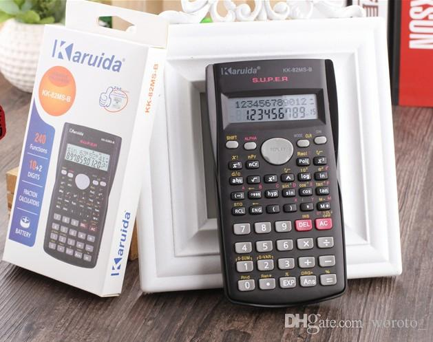 Eldeği Öğrenci Bilimsel Hesaplama 2 Hat Ekran 82ms Matematik Öğretimi için Taşınabilir Çok Fonksiyonlu Hesap Makinesi