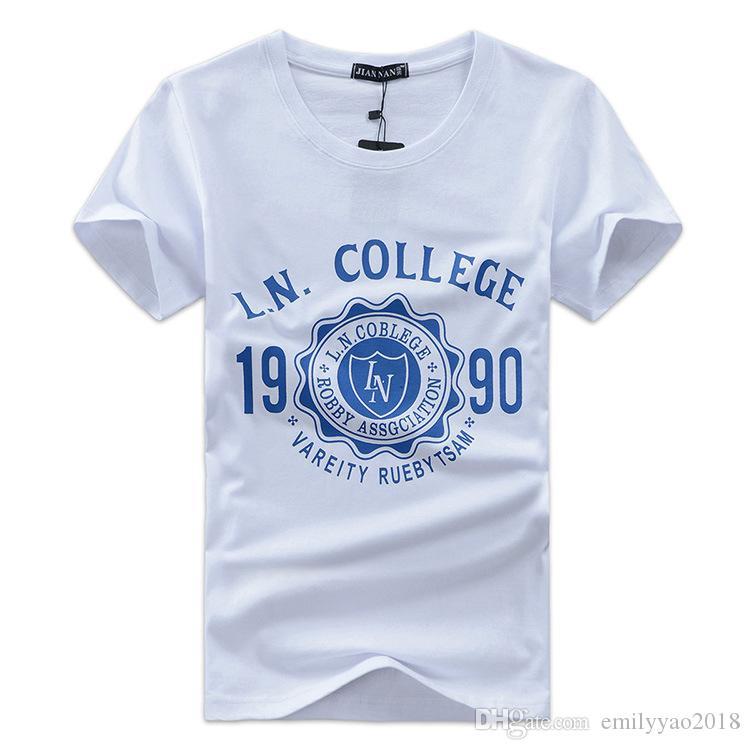New Fashion Brand T Shirt College IN 1990 T-shirt stampate da uomo Estate Top Tees Hip Hop maschile Tshirt