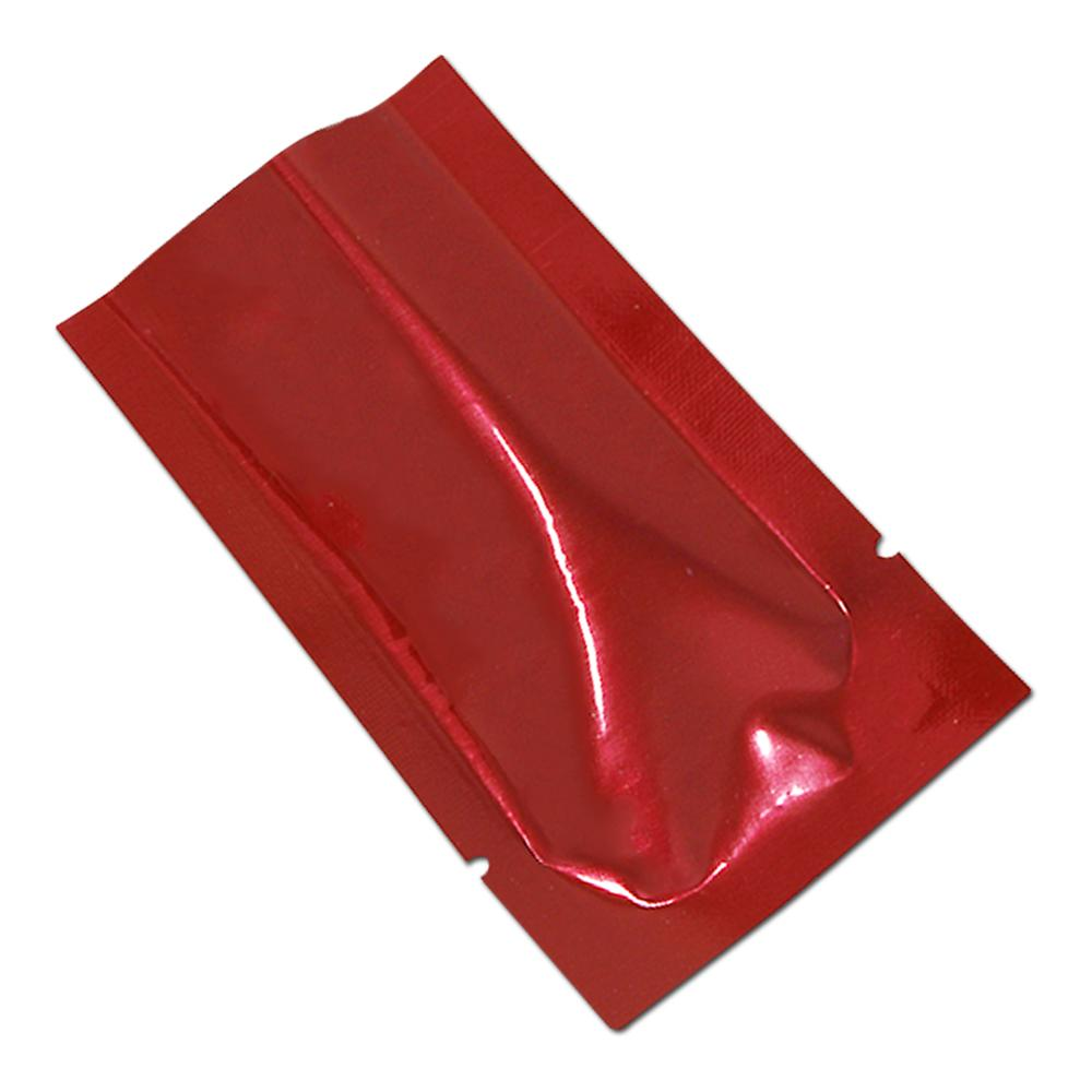 300Pcs 6x9cm Red Aluminum Foil Bags Nuts Snacks Candy Cookies Open Top Storage Bag Heat-seal Vacuum Bags for Christmas Supplies