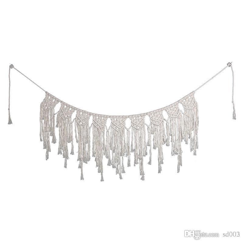 Böhmen-Art-handgemachter Tapisserie-Webart-Vorhang Hauptlieferungs-hängende Hochzeits-Wand-Dekorations-hängende Faser Art Favor Gifts 28sj ii