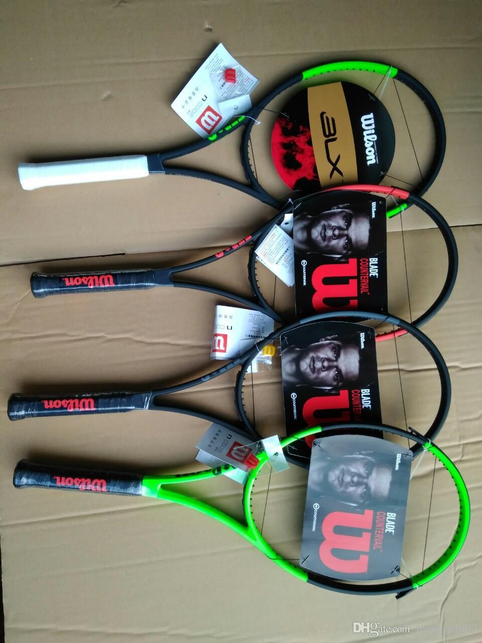 من ألياف الكربون مضرب تنس مضارب تنس مجهزة حقيبة قبضة racchetta دا التنس بليد 98 يعوض