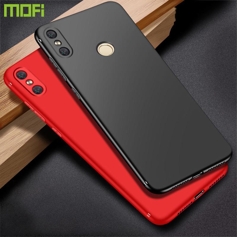 Per Xiaomi Redmi Note 6 Pro Case Hard Pc Cover posteriore di colore Soild Mofi Redmi Note 6 Pro Cover Case Nero Rosso Blu Redmi Note6 Pro