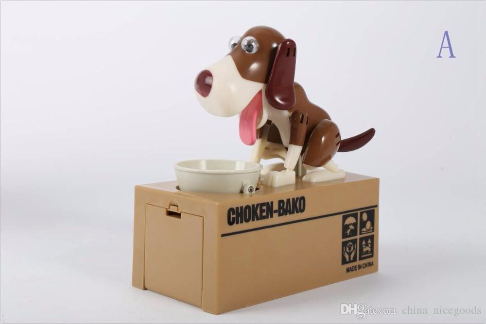1 Piece Robotic Dog Banco Canino Money Box Money Bank Automatic Stole Coin Piggy Bank Money Saving Box Moneybox Christmas Gifts for kid