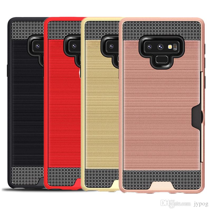 For Samsung NOTE 9 Case 2in1 Non Slip High Impact Hard Back Cover Case with Card Bag for Samsung Galaxy NOTE 9