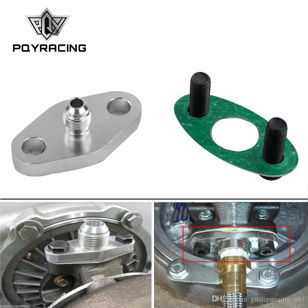 """1//8/"""" NPT Turbo Oil Feed Flange Adaptor For T3 T3//T4 T04 Silver"""