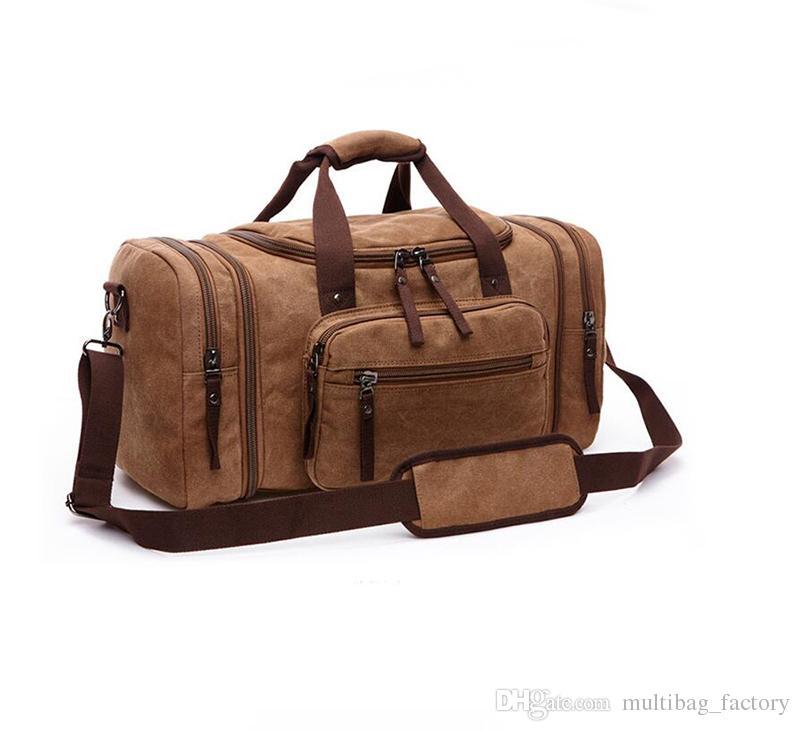 Duffle bag travel bags hand luggage luxury shoulder strap travel bag men canvas handbags large cross body bag sac totes for boys mens