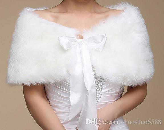 Neueste Stil Heißer Verkauf Lace-up Plüsch Faux Pelzschal Mode Weiche Tücher Bridal Wraps Jacken Hochzeitszubehör Shuoshuo6588
