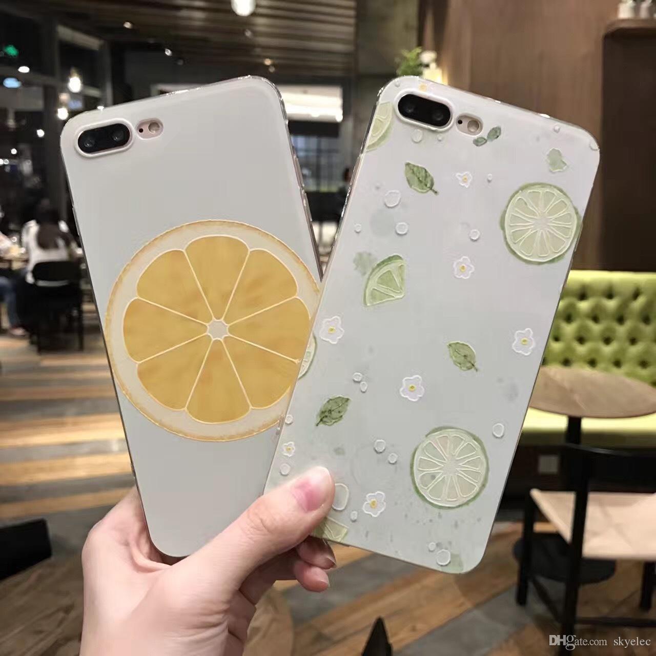 Caja del teléfono móvil Shell Tpu Soft Relief Pintura tridimensional de verano Creative 6 plus Accesorios de la cubierta protectora