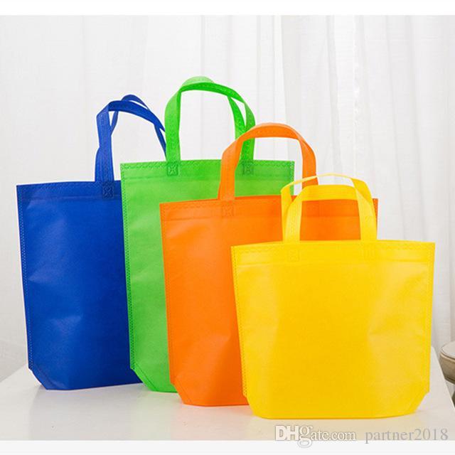 Eco Amigável Ambiental Saco de Compras Reutilizável Dobrável Tote Não Tecido Sacola De Armazenamento De Supermercado Recusar resíduos de plástico lfor saco de mão da vida