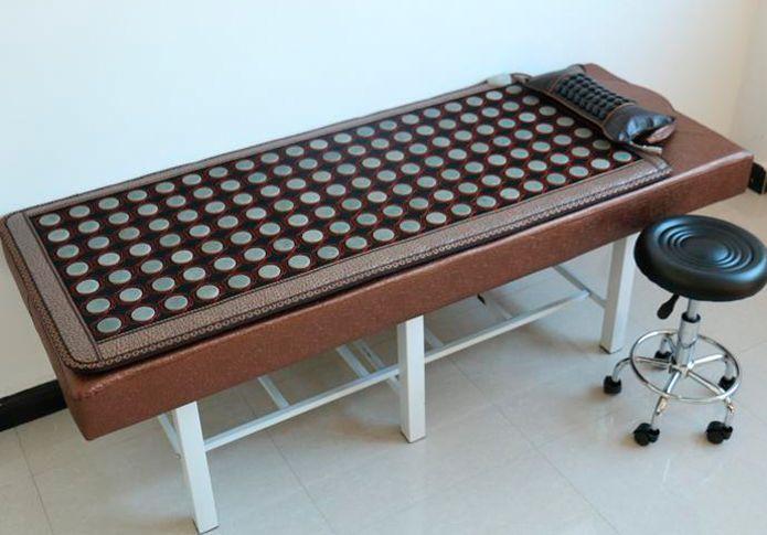 Electric Heating Massage Mattress tourmaline Stone Mattress Beauty Mattress Therapy Spa Tourmaline Mat For Sale 0.7X1.6M