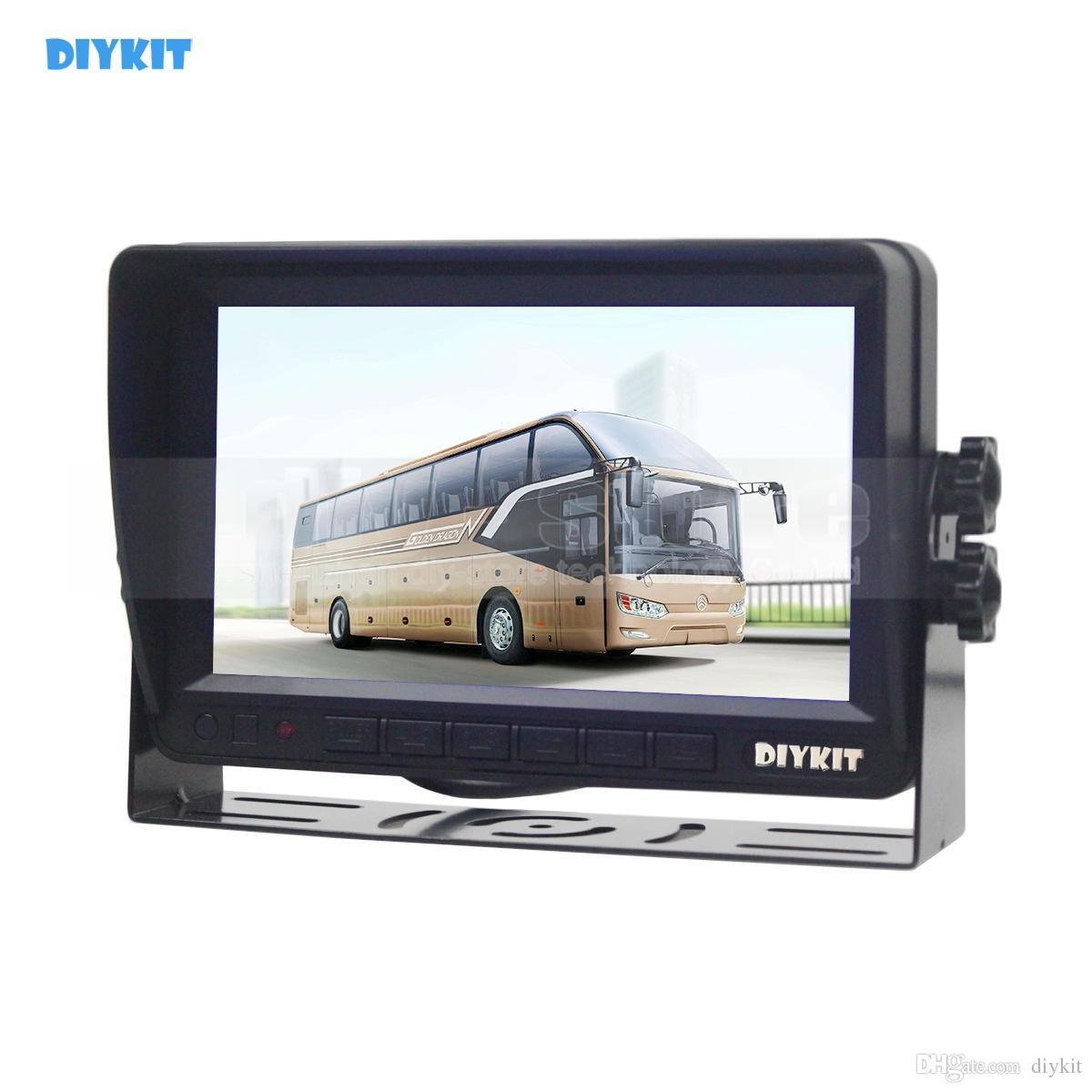 DIYKIT AHD 7inch TFT LCD Car Monitor Rear View Monitor Support 2000000 Pixels AHD Camera with 2 x 4PIN Video Input