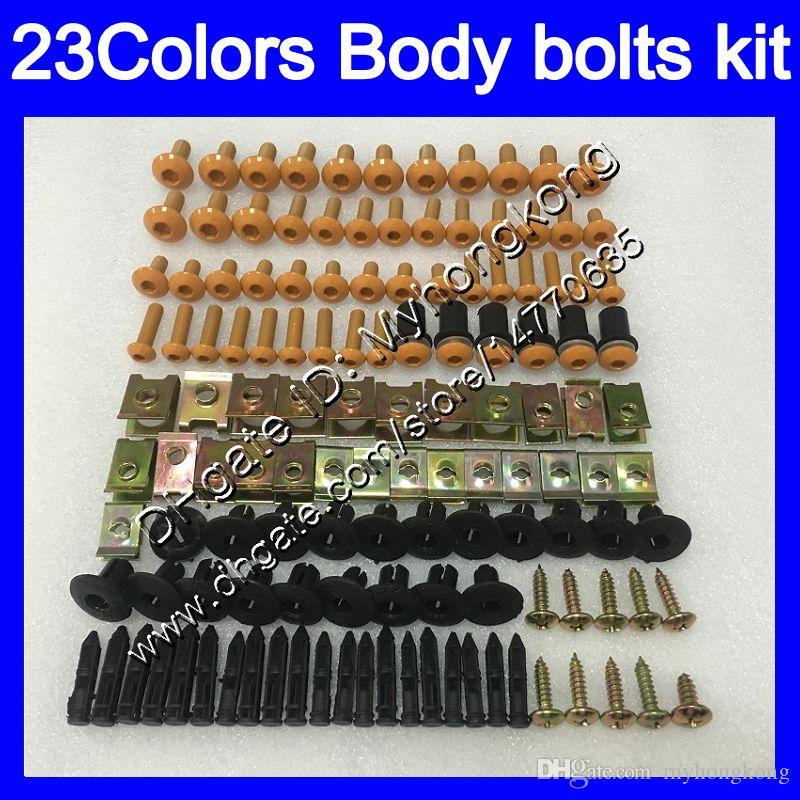 pernos kit de carenado tornillo completo Para YAMAHA YZFR1 98 99 YZF R1 YZF 1000 YZF1000 YZF1000 YZFR1 1998 1999 tuercas del cuerpo tornillos 25colors juego de pernos tuerca
