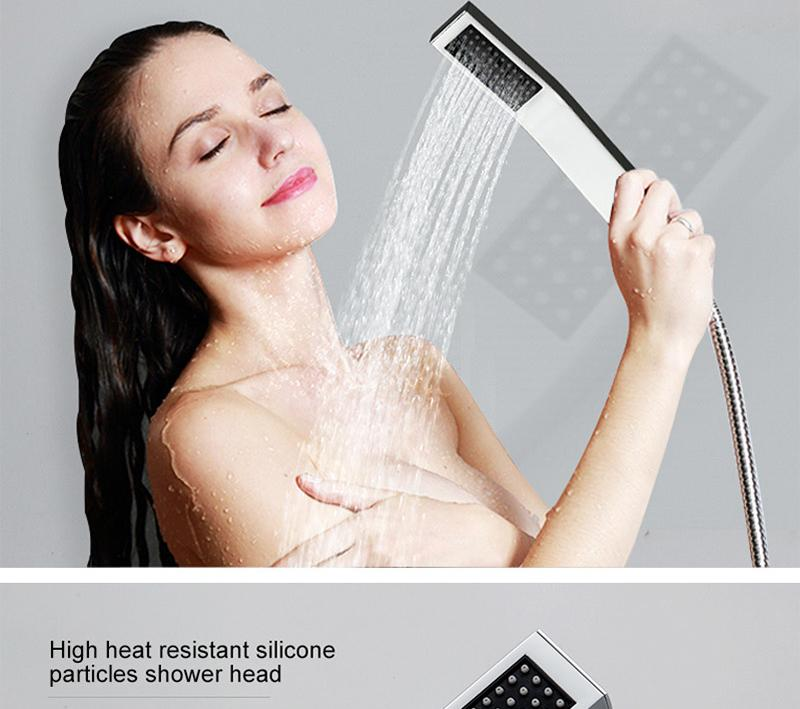 Waterfall LED Shower Faucet Set Contemporary Bathroom Rain Shower Head Side Spray Large Water Flow Bath Valve (19)