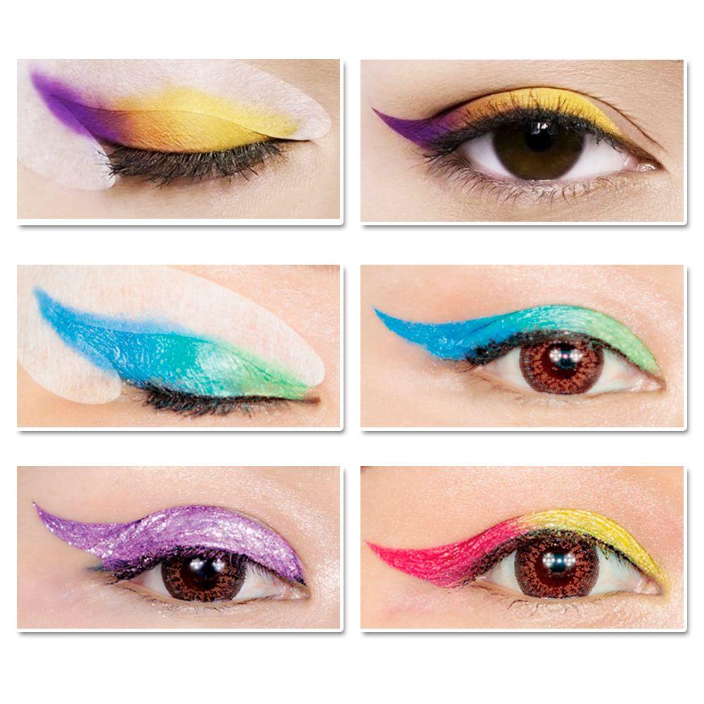 LANBENA Rainbow Party Fashion Wing Eye Liner Eye Shadow Stickers Makeup Glitter Makeup Brushes Tools