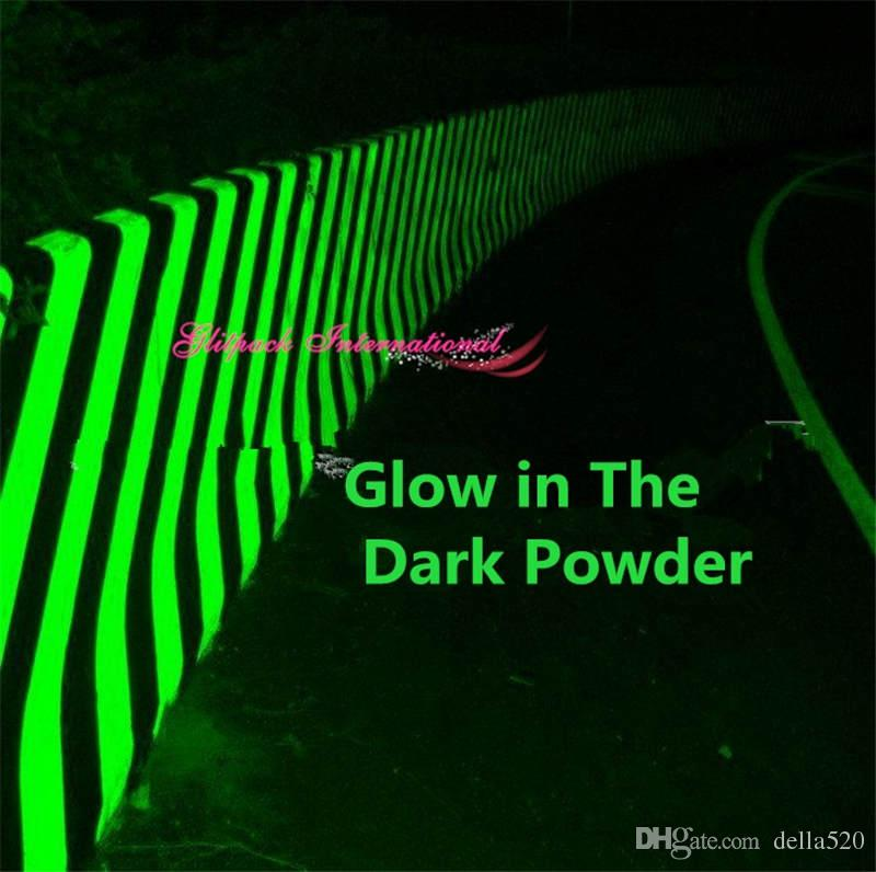 Top 1kg Wholesale Airport Road Glow in dark Nail art pigment Green Light Color uv long last glowing luminescent powder in Bulk