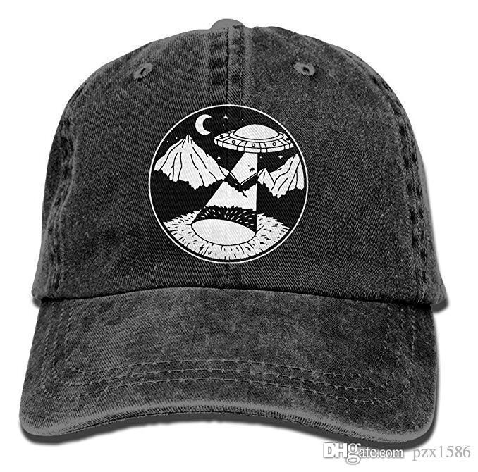 Denim Caps for Women//Men Colorful Alien Face Adjustable New Ball Truckers