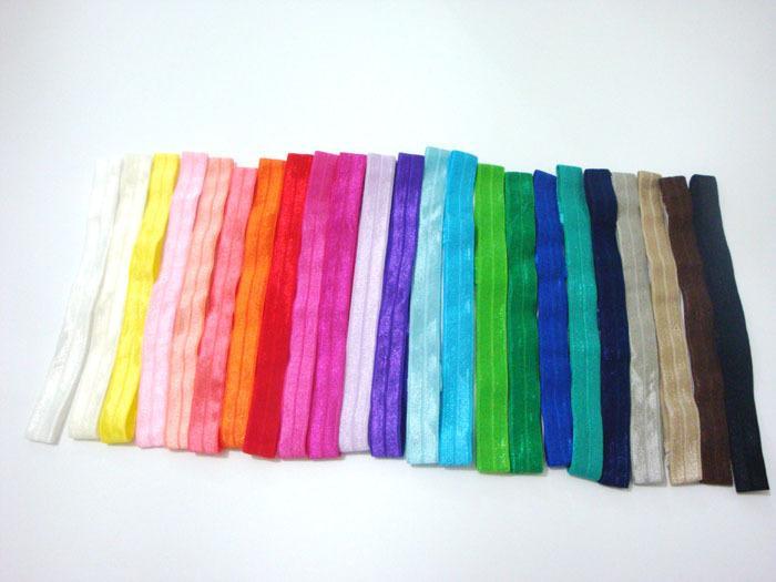 23 Renkler 1.5 cm Parlak İnce Elastik Saç Bantları Saten Kurdele Kafa Kızlar Şapkalar 60 adet / grup