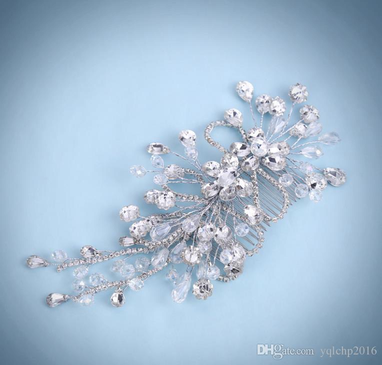 Blumen, Köpfe, Blumen, handgemachte Kristallperlen, Haarkamm, Pearl Wedding Kopfbedeckung, Hochzeitskleid Zubehör.