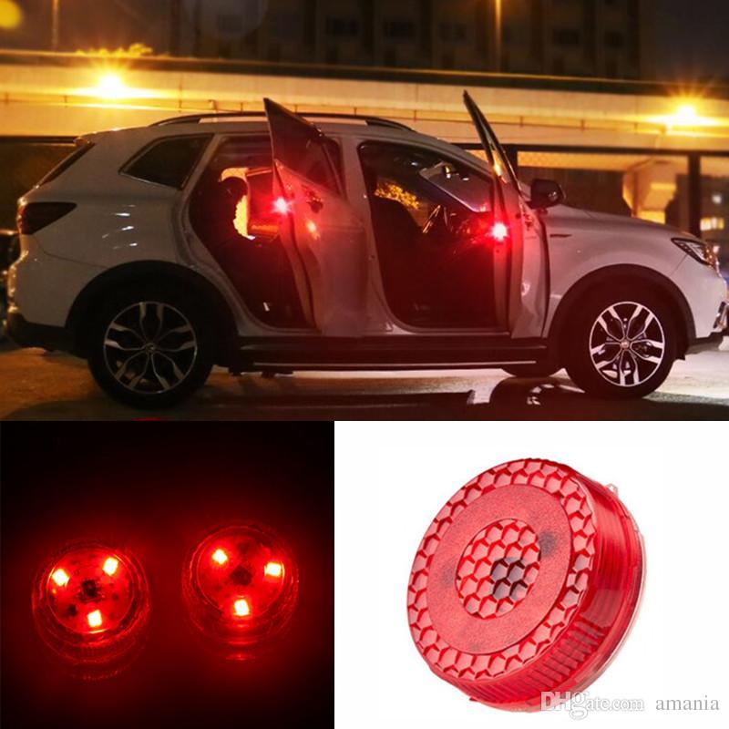 Magnetic Wireless LED Car Door Opening Warning Lights Waterproof Strobe Flashing