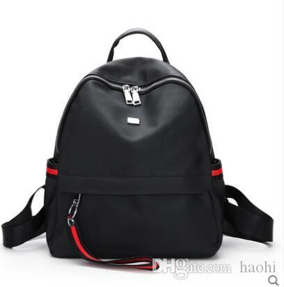 2018 Modemarken Adrette Nylon Schule Rucksack Tasche Für College Einfache Design Männer Casual rucksack Daypacks mochila männlich Neu