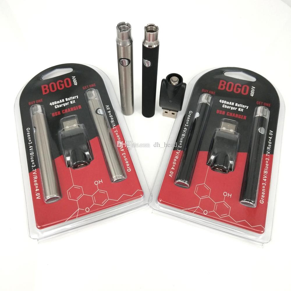 Logotipo personalizado 400mah E cig batería LO Precaliente baterías Ego con cargador USB Para cartucho de vape de aceite grueso M6T th205 desechable 510 atomizador