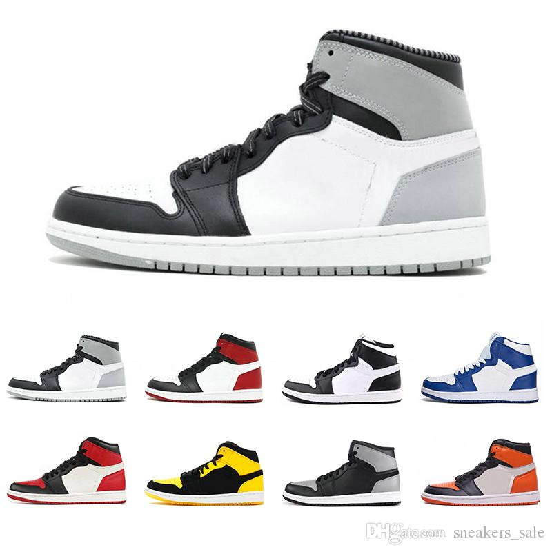 Mens 1 OG Barons Black White Metallc Red Wheat UNC Men Basketball Shoes designer Chicago Black Toe Bred Banned Trainers Sport Sneakers Shoes