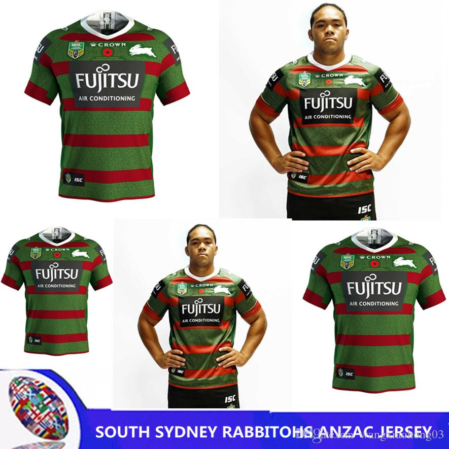2020 2019 Nrl Jerseys Australia South Sydney Rabbitohs Australia Nrl National Rugby League South Sydney Rabbitohs 2018 Anzac Jersey Size S Xxxl From Wangxiaohong03 18 12 Dhgate Com