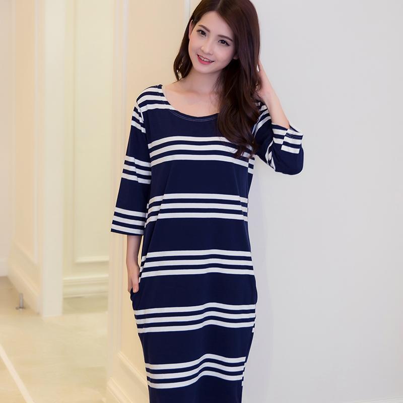 Women Plus Size M- XXXL T Shirt Dress Nightgown Robe Cotton Nightdress Nightshirt  Ladies Nightwear 38ae1ba266