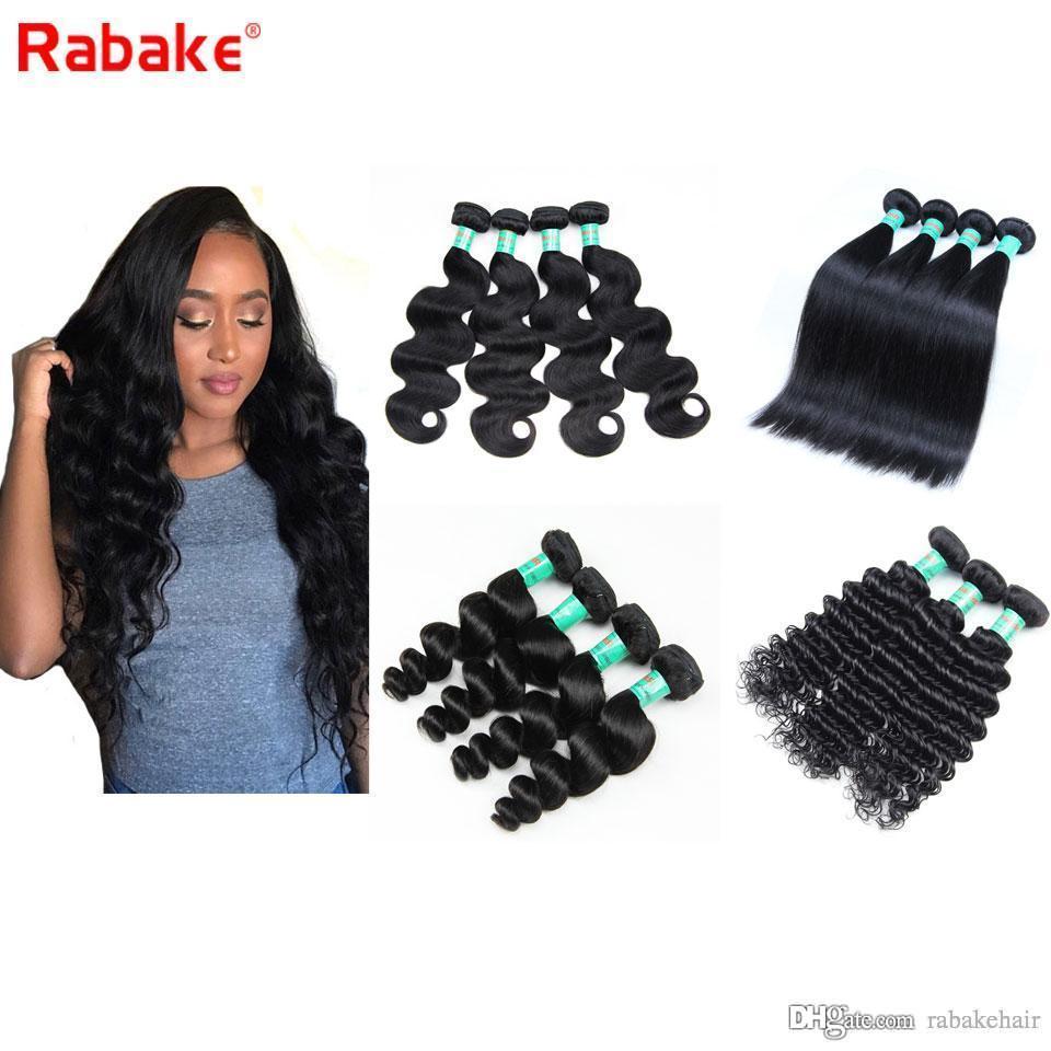 3 أو 4 حزم البرازيلي عذراء الشعر حزم الجسم موجة مستقيم موجة عميقة موجة فضفاضة 100٪ غير المجهزة بيرو الماليزية الشعر الهندي الخام