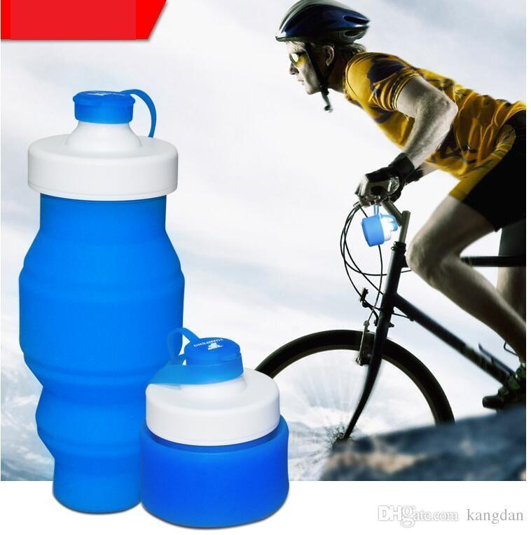 Garrafa de Água de viagem Silicone Retrátil Dobrável Garrafas De Água Ao Ar Livre Telescópica Dobrável Dobrável Tumbler Copos Copo De Água Dobrável